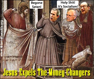 Image result for jesus money changers